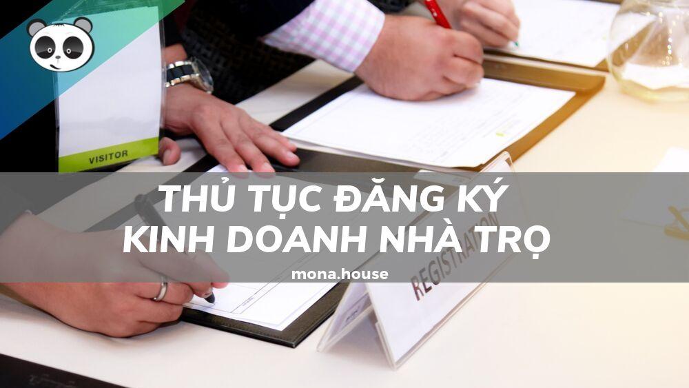 Thủ tục đăng ký kinh doanh nhà trọ